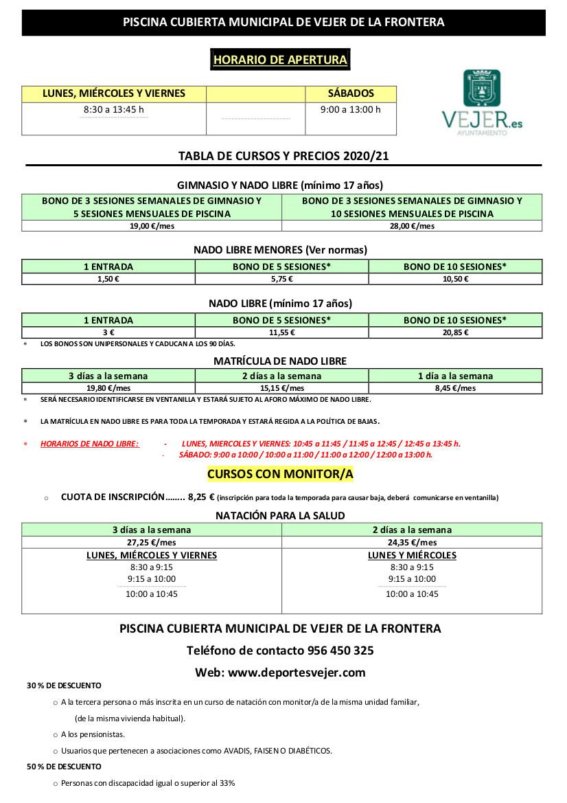 Tabla de cursos y precios 2020-21 - Modificada (11-11-2020)